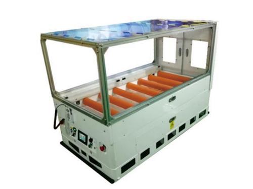 Dust-free roller transfer AGV
