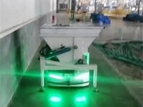 Laser jacking AGV