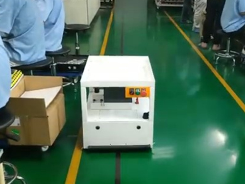 Simple carrying AGV transporting workpiece